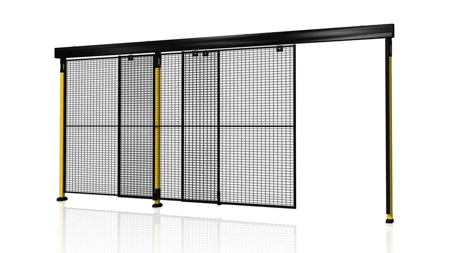 X-Guard Porta scorrevole doppia con doppia guida